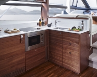 Princess-49-interior-galley-american-walnut-satin-2