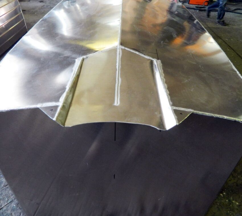 Туннель под водомет на алюминиевый катер