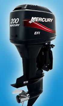 Двухтактный мотор Mercury V6 200 XL EFI SWB