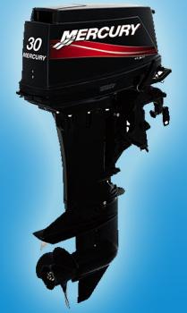 Двухтактный средний мотор Mercury 30 M