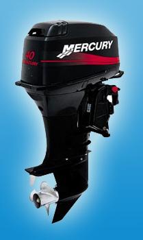 Двухтактный средний мотор Mercury 40 EO