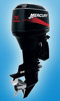 Двухтактный средний мотор Mercury 75 ELPTO